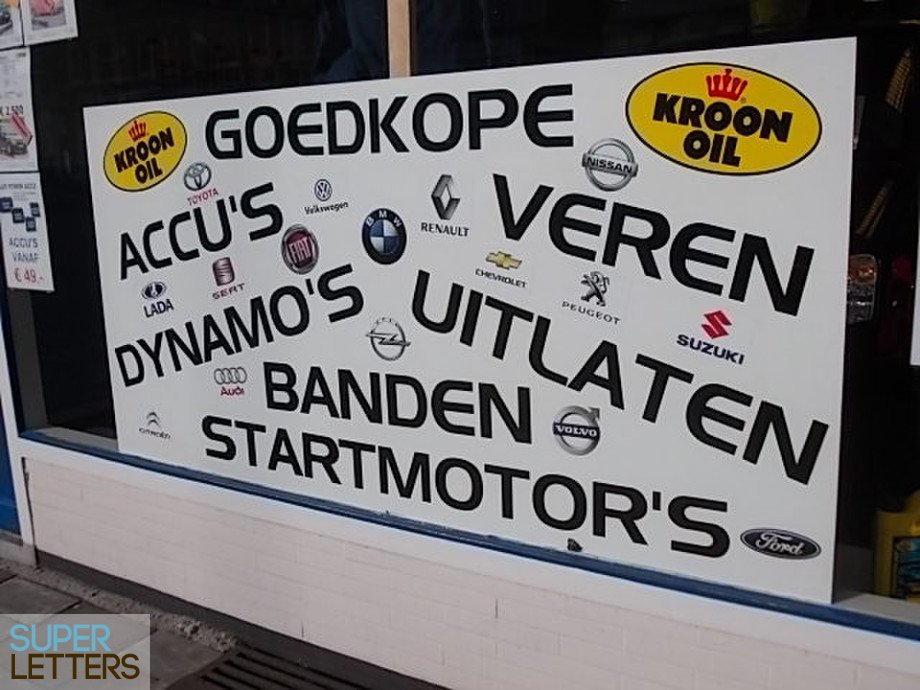 Garage Van Zanten : Plakletters garage van zanten